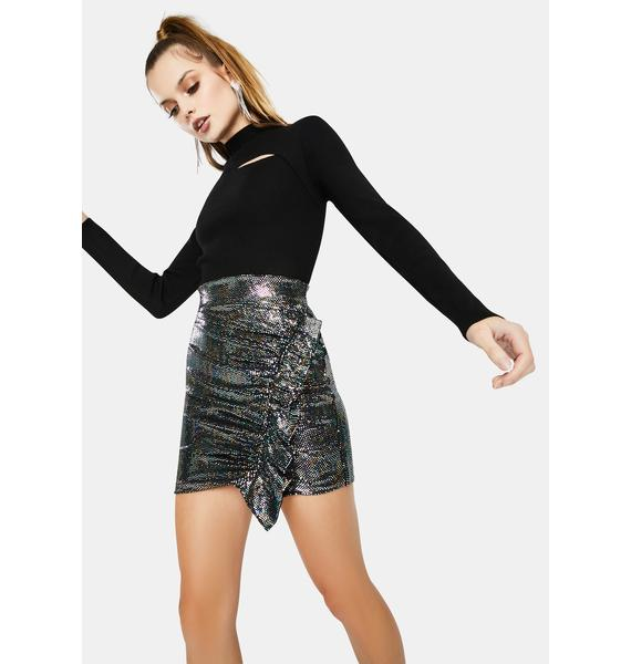 ASTR THE LABEL Layla Metallic Mini Skirt