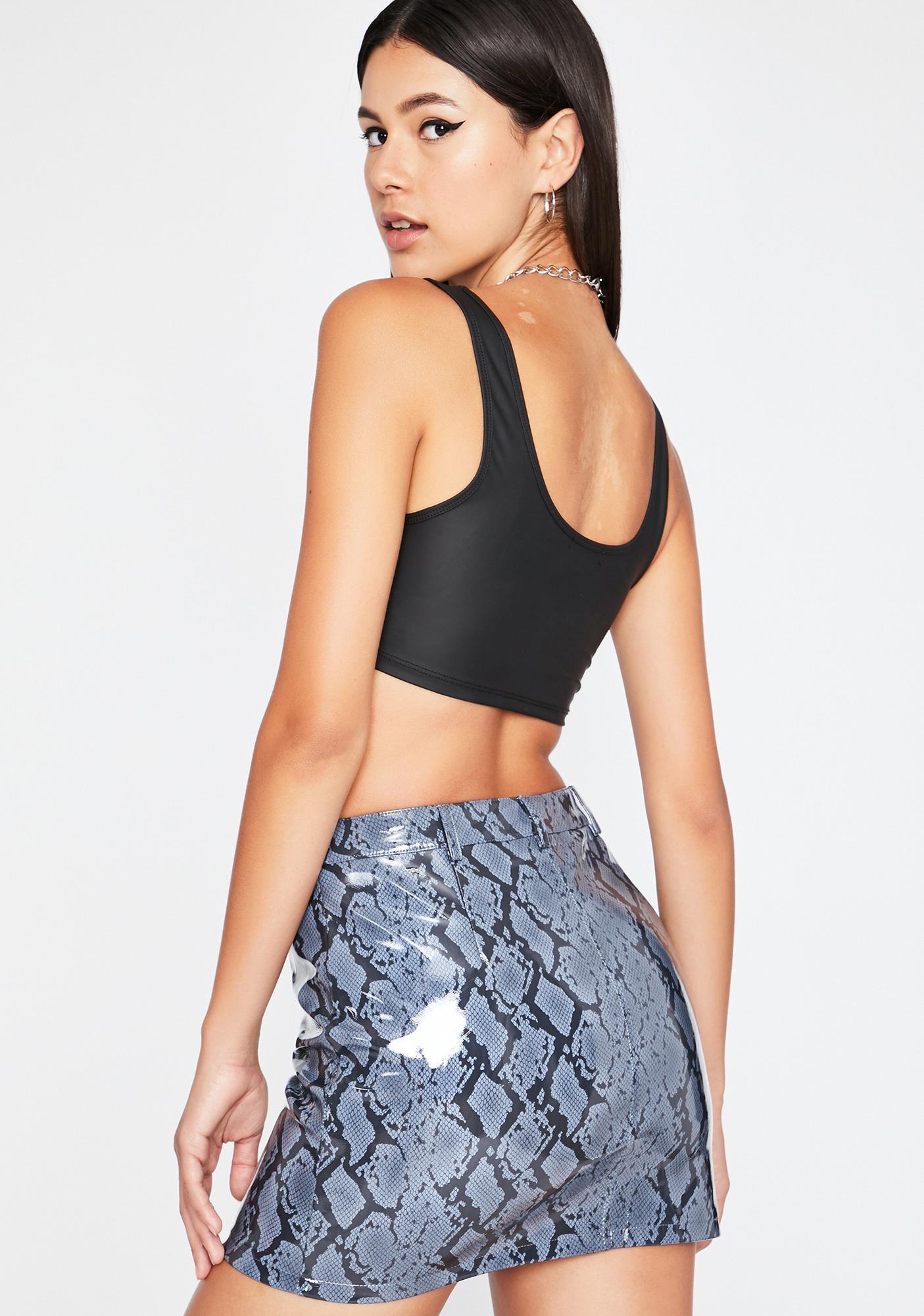 Misbehavin' Thots Vinyl Skirt