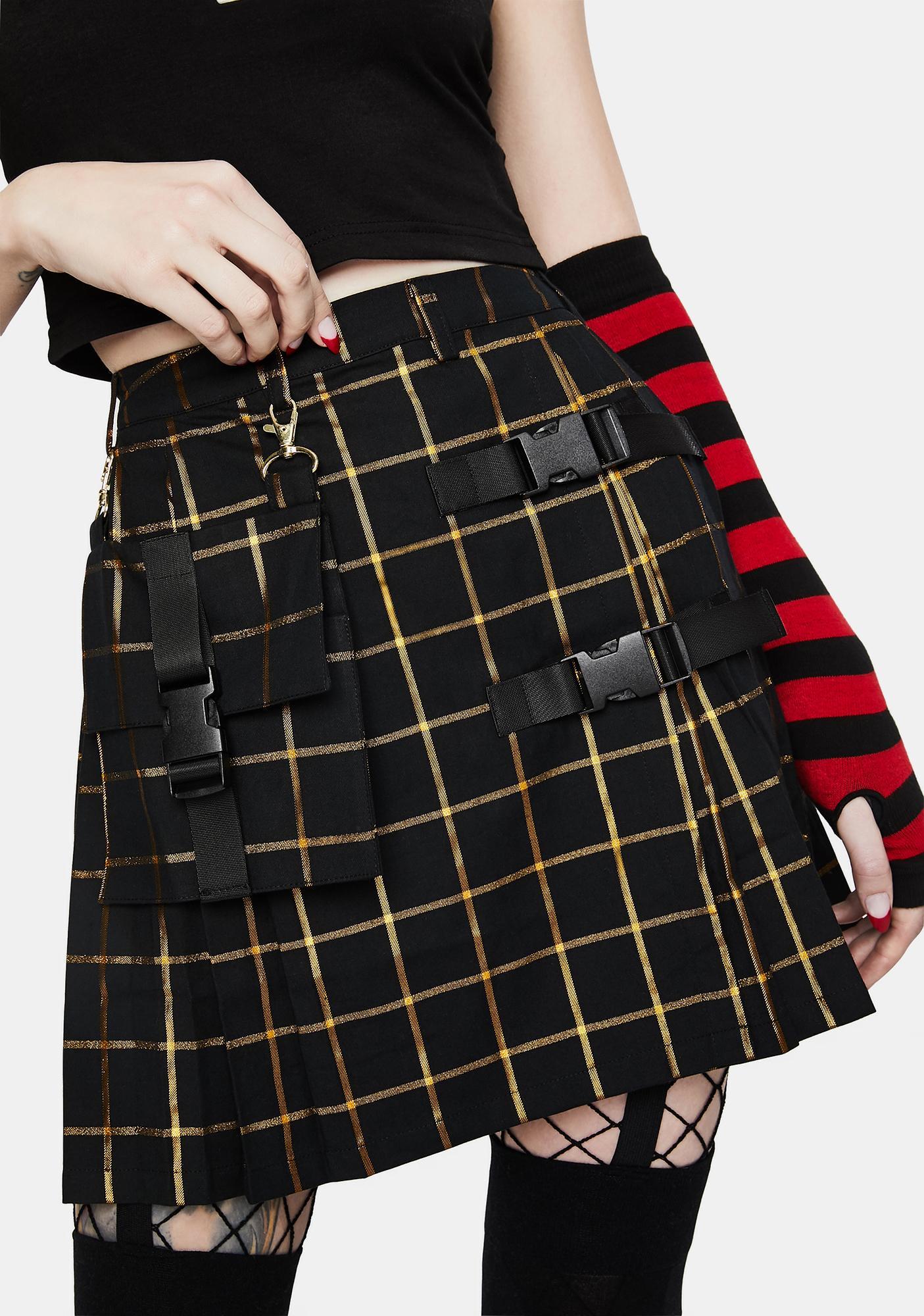 Black Friday RA Pleated Mini Skirt