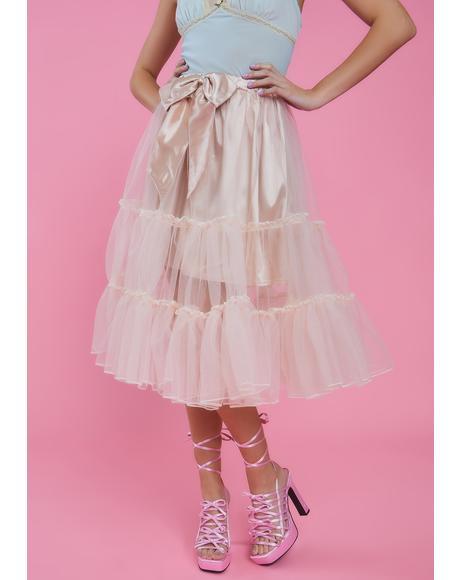 Tutu For Now Tulle Midi Skirt