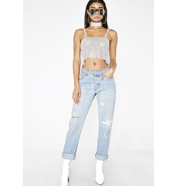 Poster Grl Diamonds Are Forever Crop Top