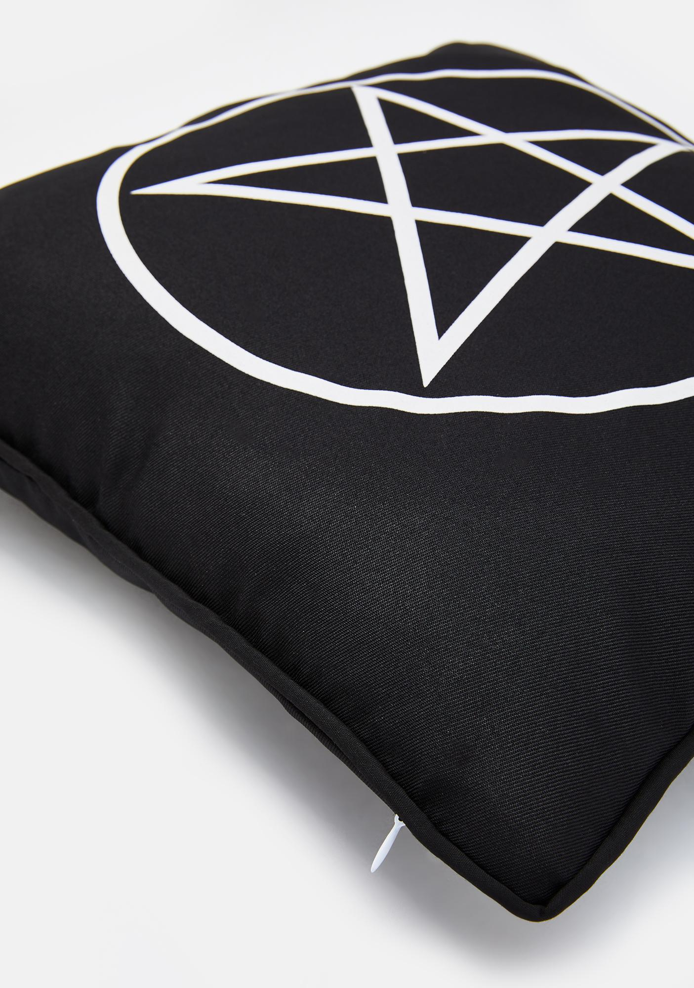 Black Magic Babe Decorative Pillow