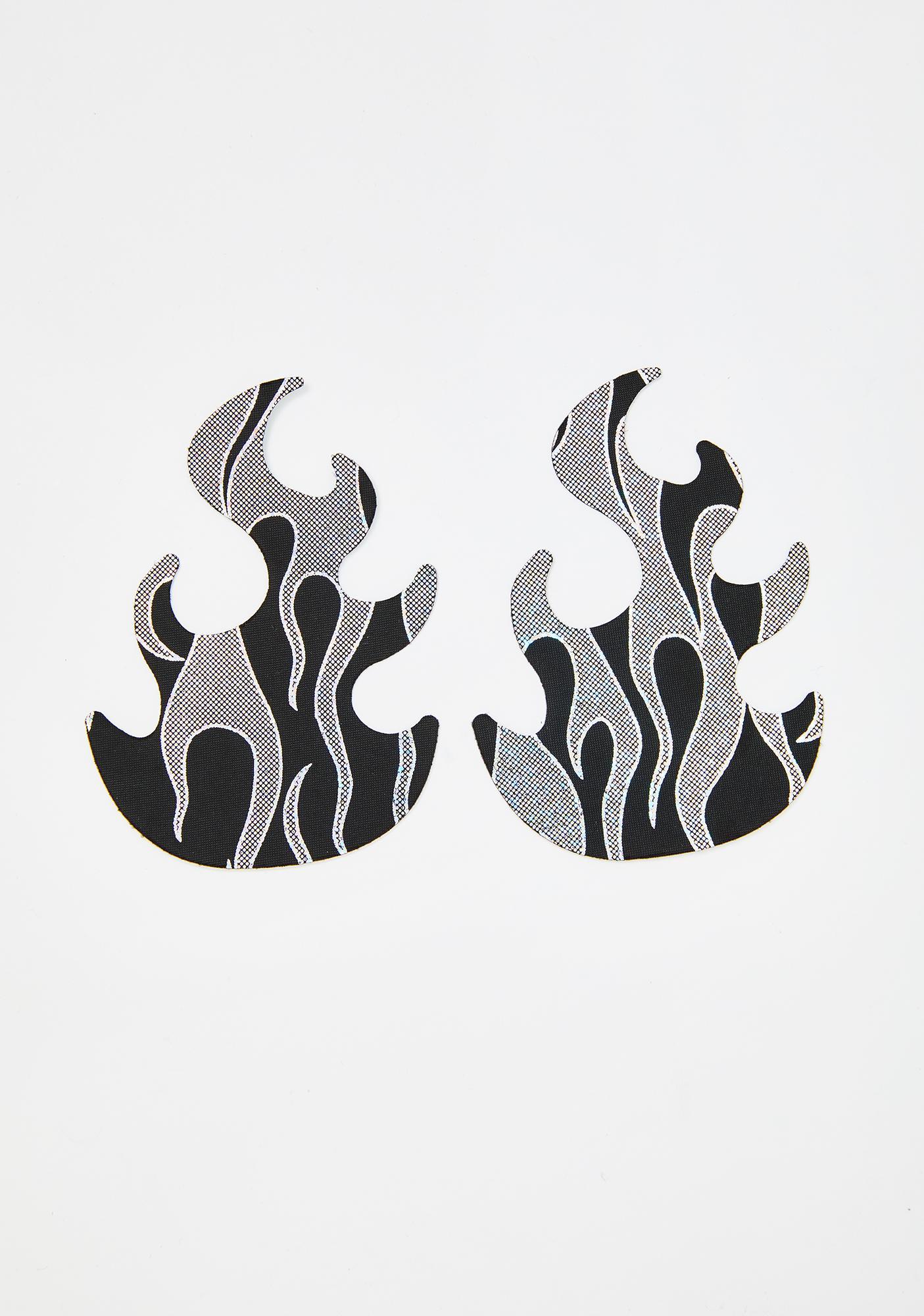 Neva Nude Robo Meltdown Flame Pasties