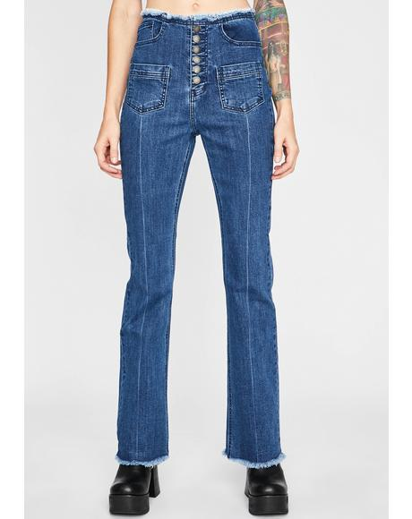 Country Call Denim Flares