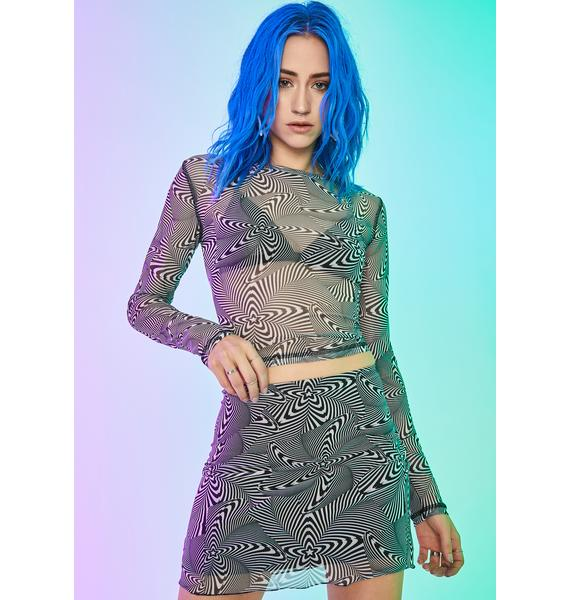 Current Mood High Infidelity Mesh Skirt