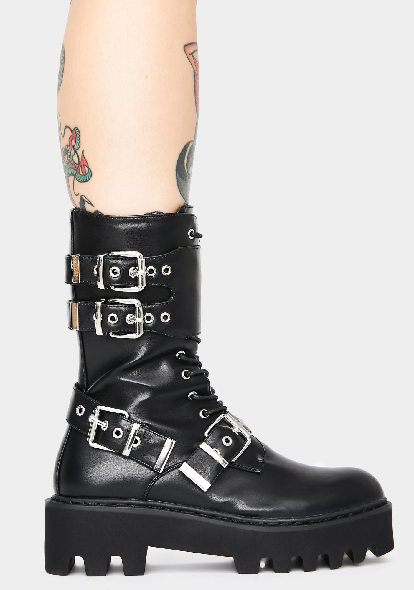 Lamoda No Guidance Lace Up Boots