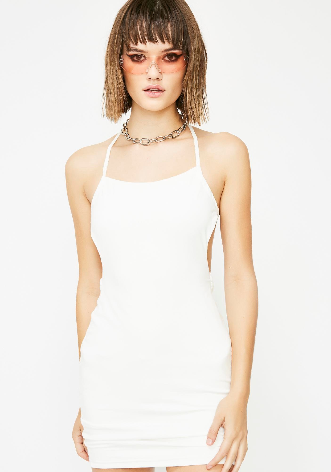 Run The Risk Backless Dress