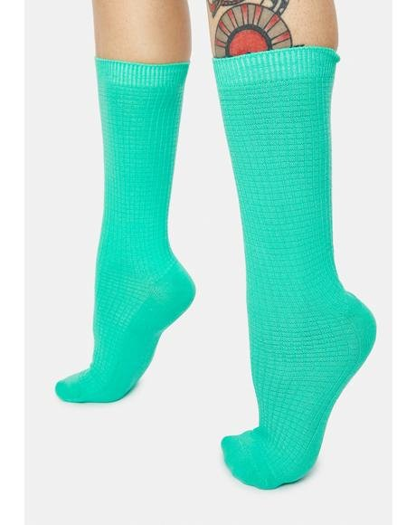 Seafoam On Your Toes Crew Socks