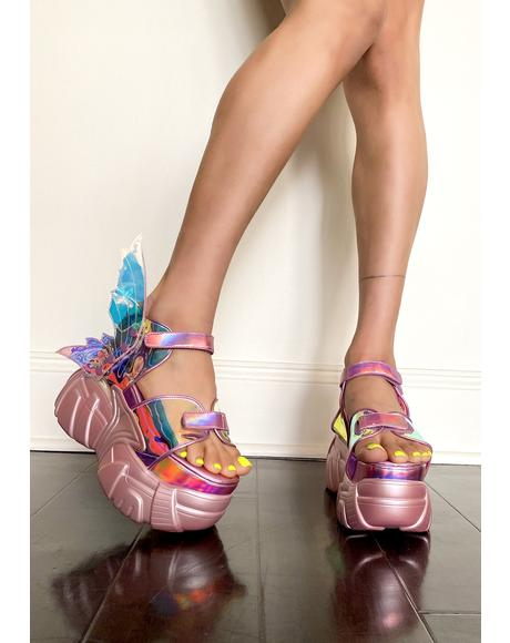 Flutter Frenzy Winged Sandals