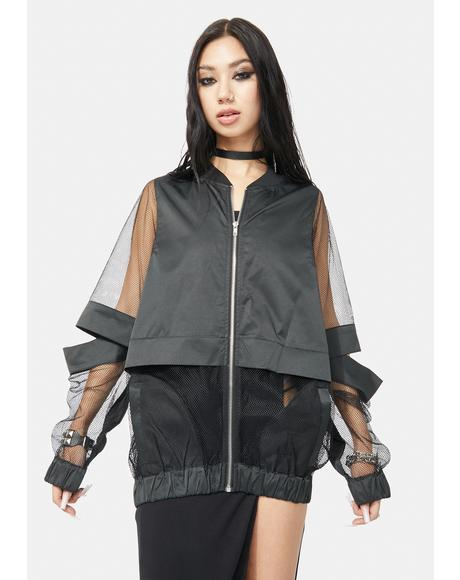 Abbey Hollow Cutout Jacket