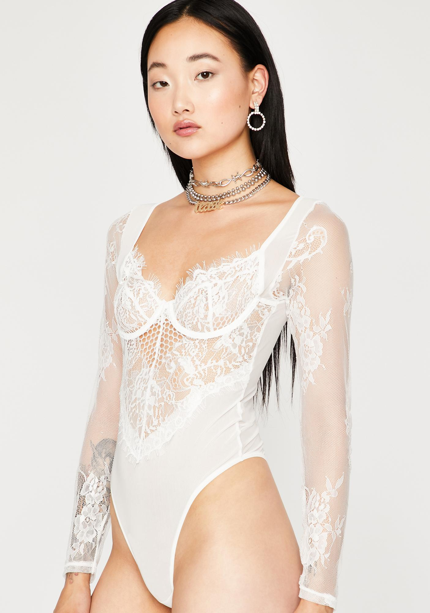 Frost Snatched Sinner Lace Bodysuit