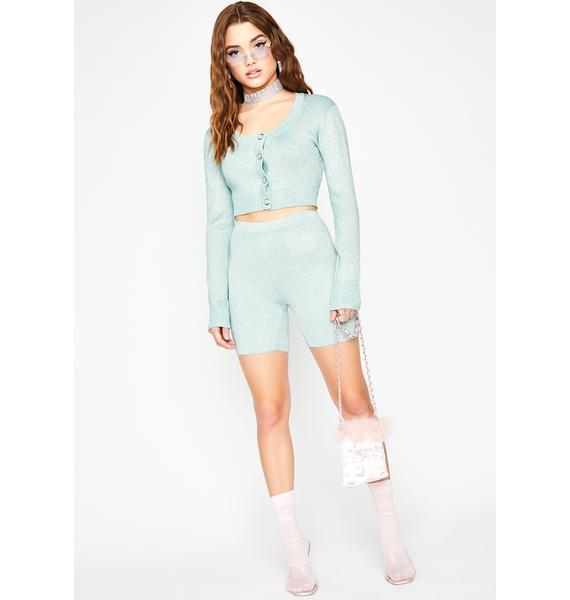 Mint U Remind Me Cropped Cardigan