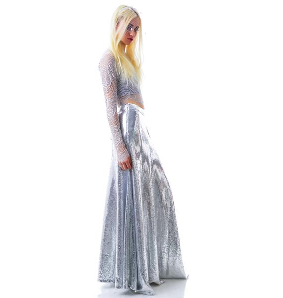 Wildfox Couture The Cecilia Maxi Sequin Skirt