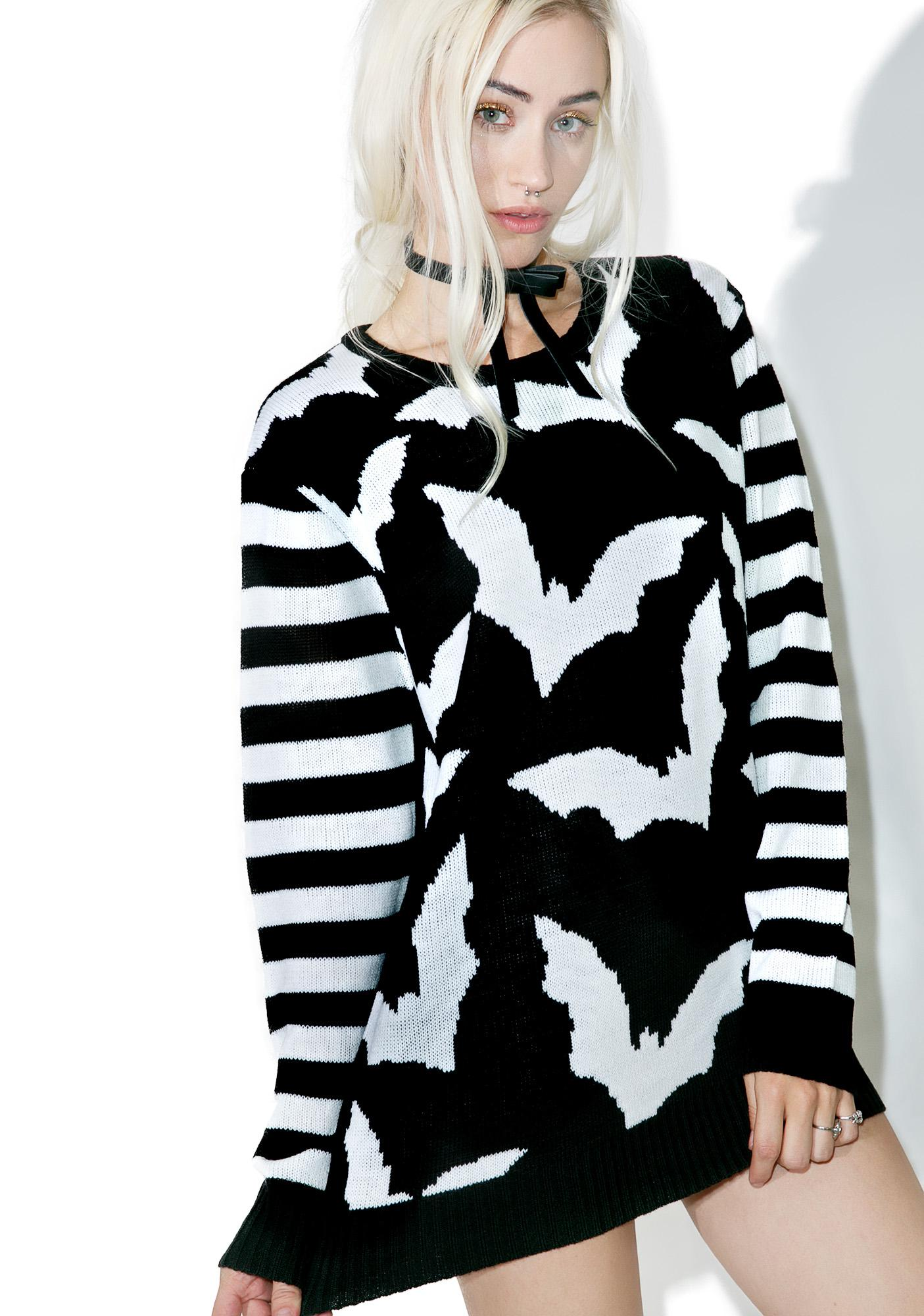 Current Mood Bat Stripe Sweater
