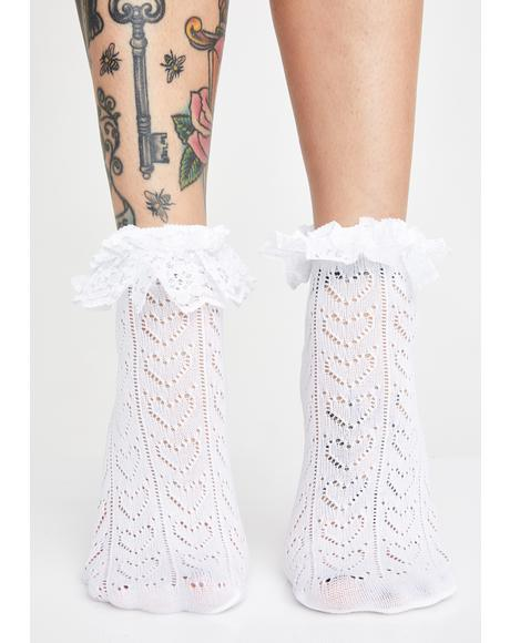 Angel Pure Ruffle Socks