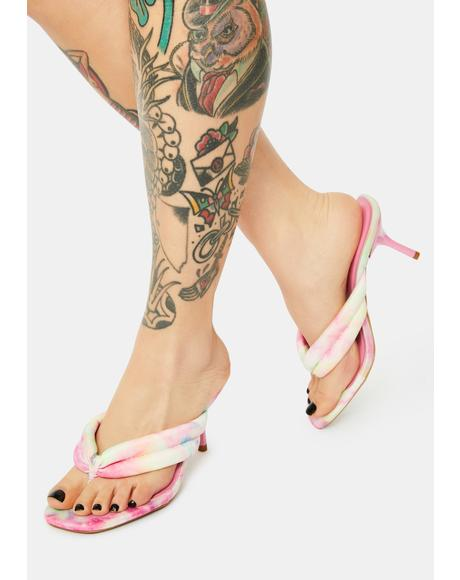 Tie Dye Highly Requested Kitten Heels