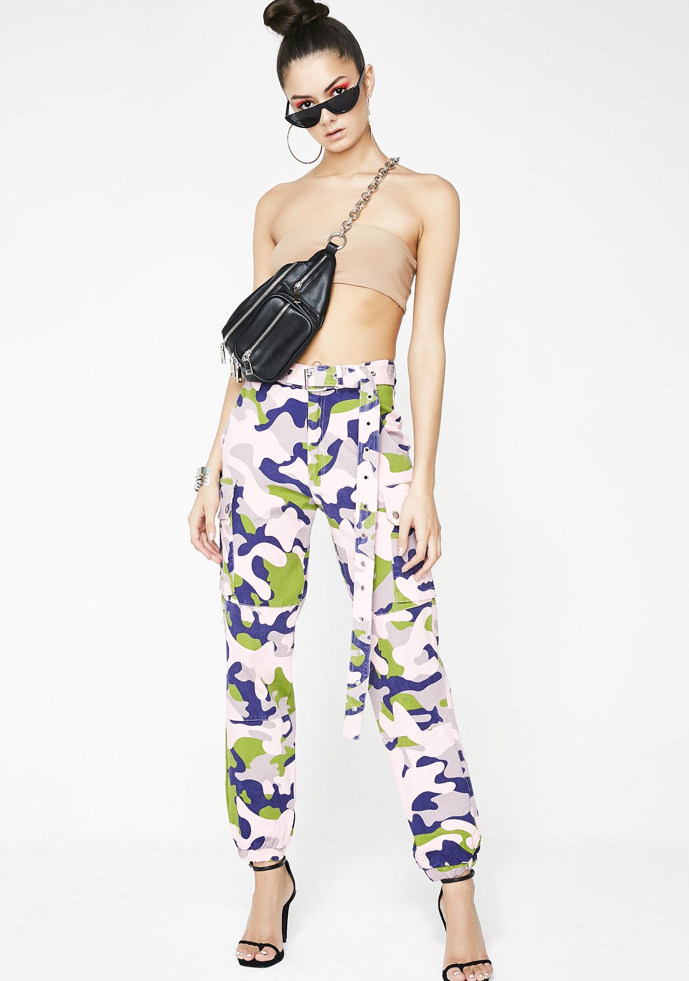 Violet Heavy Hustla Cargo Pants