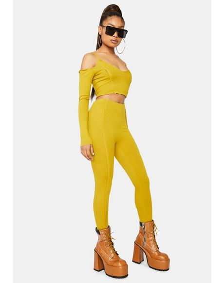 Mustard Flavor Of The Week Pants Set
