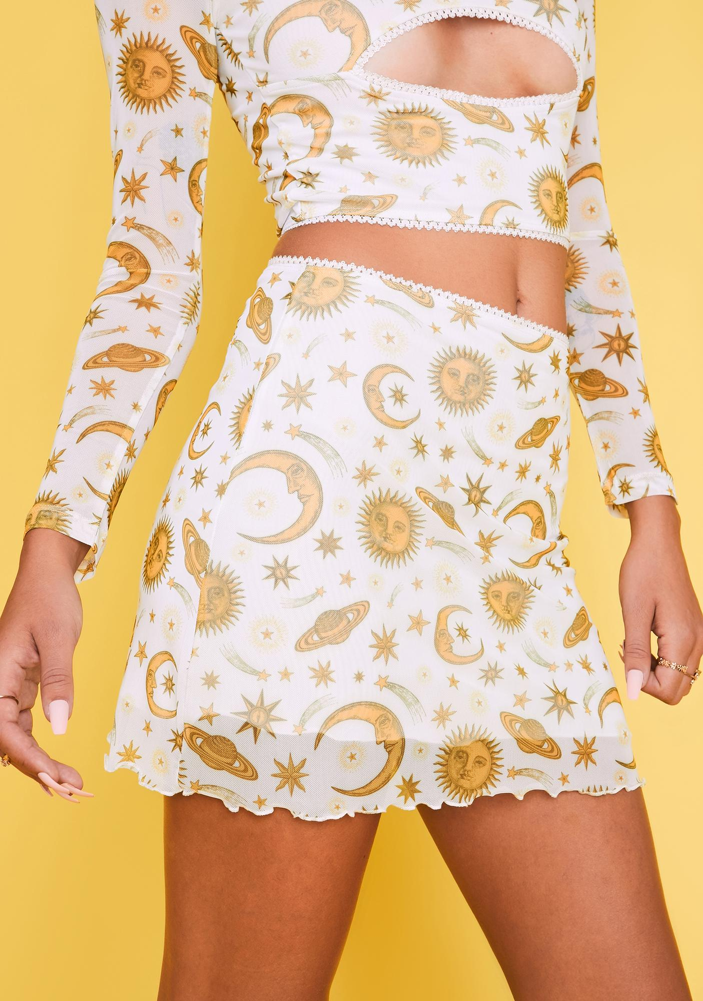 HOROSCOPEZ Show Me A Sign Mini Skirt