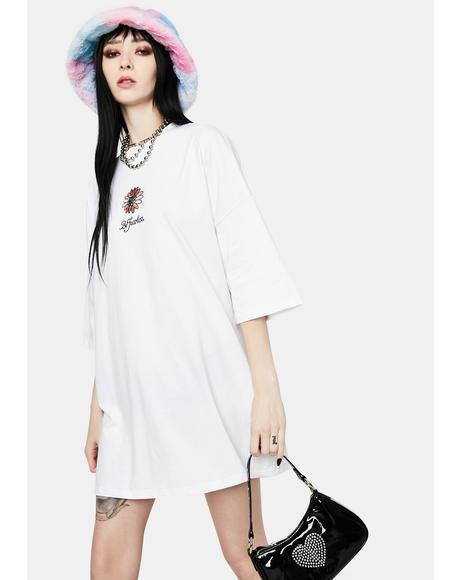 Be Fearless Embroidered Tee Dress