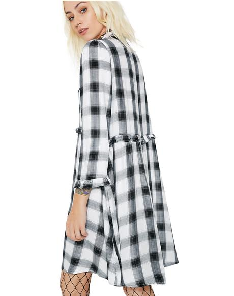 Honor Roll Button Up Dress