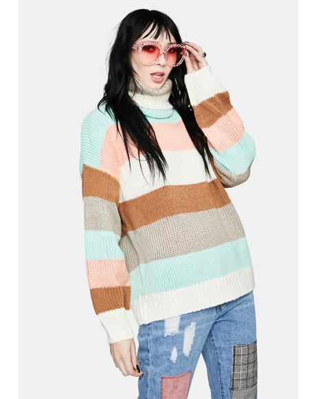 Caramel Sweet By Nature Striped Sweater