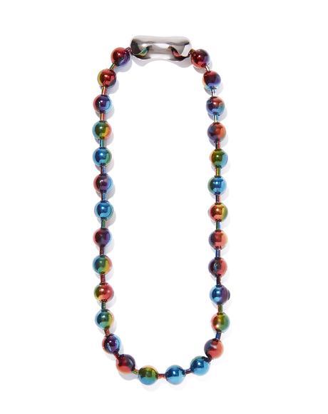 Rainbow Ball Chain Choker