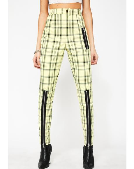 Bee Punk N' Posh Plaid Pants