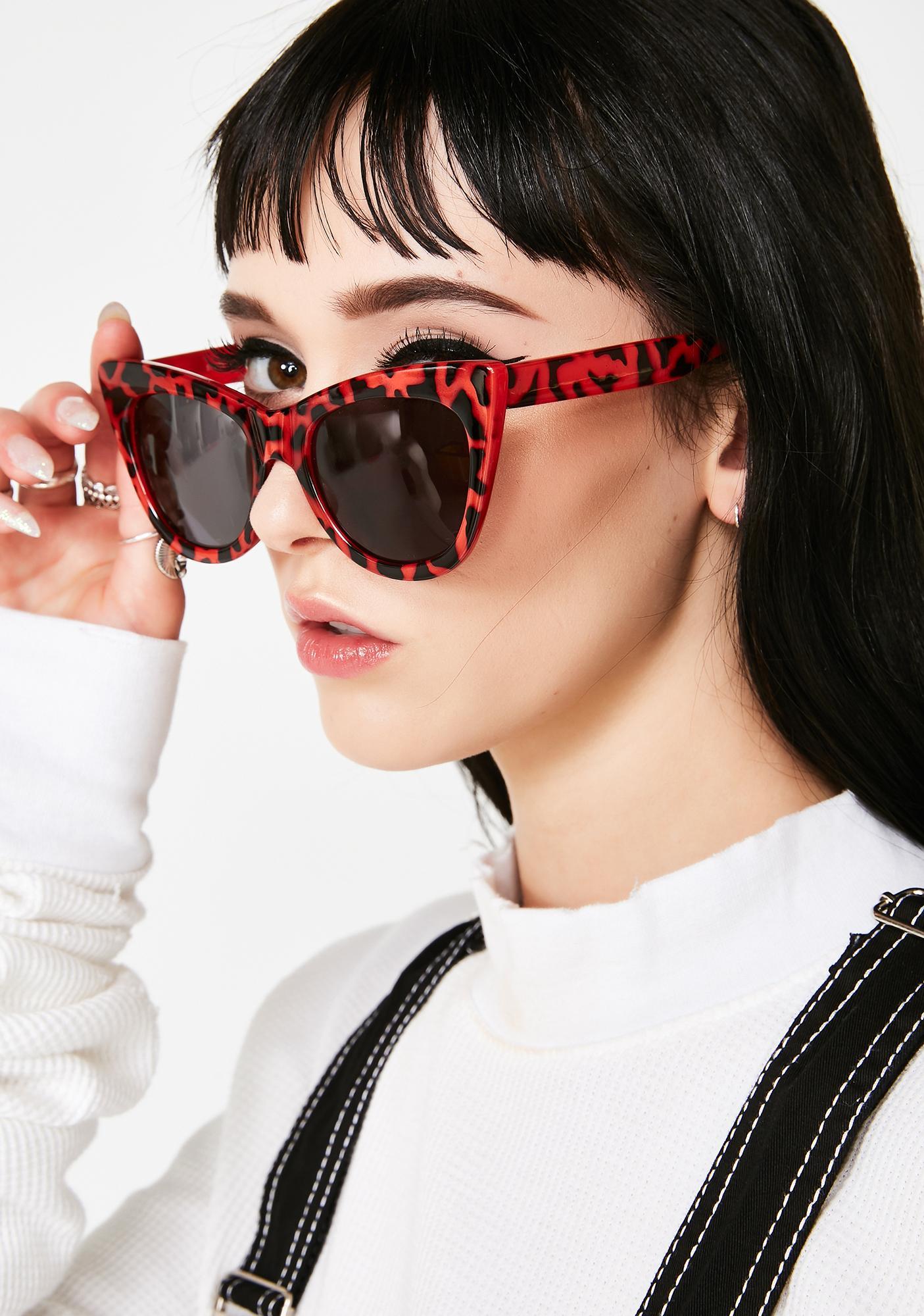 Cherry Hollywood Hillz Cat Eye Sunglasses