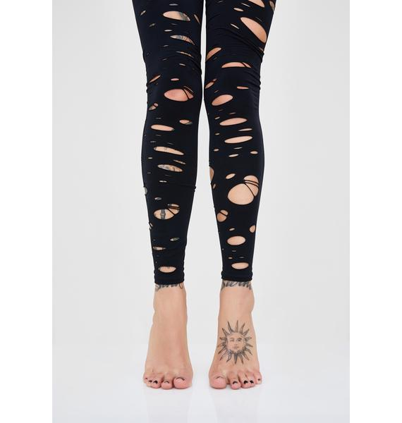 Hot Mess Tattered Tights