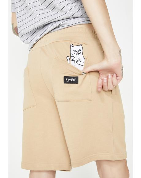 Sand Peeking Nerm Sweat Shorts