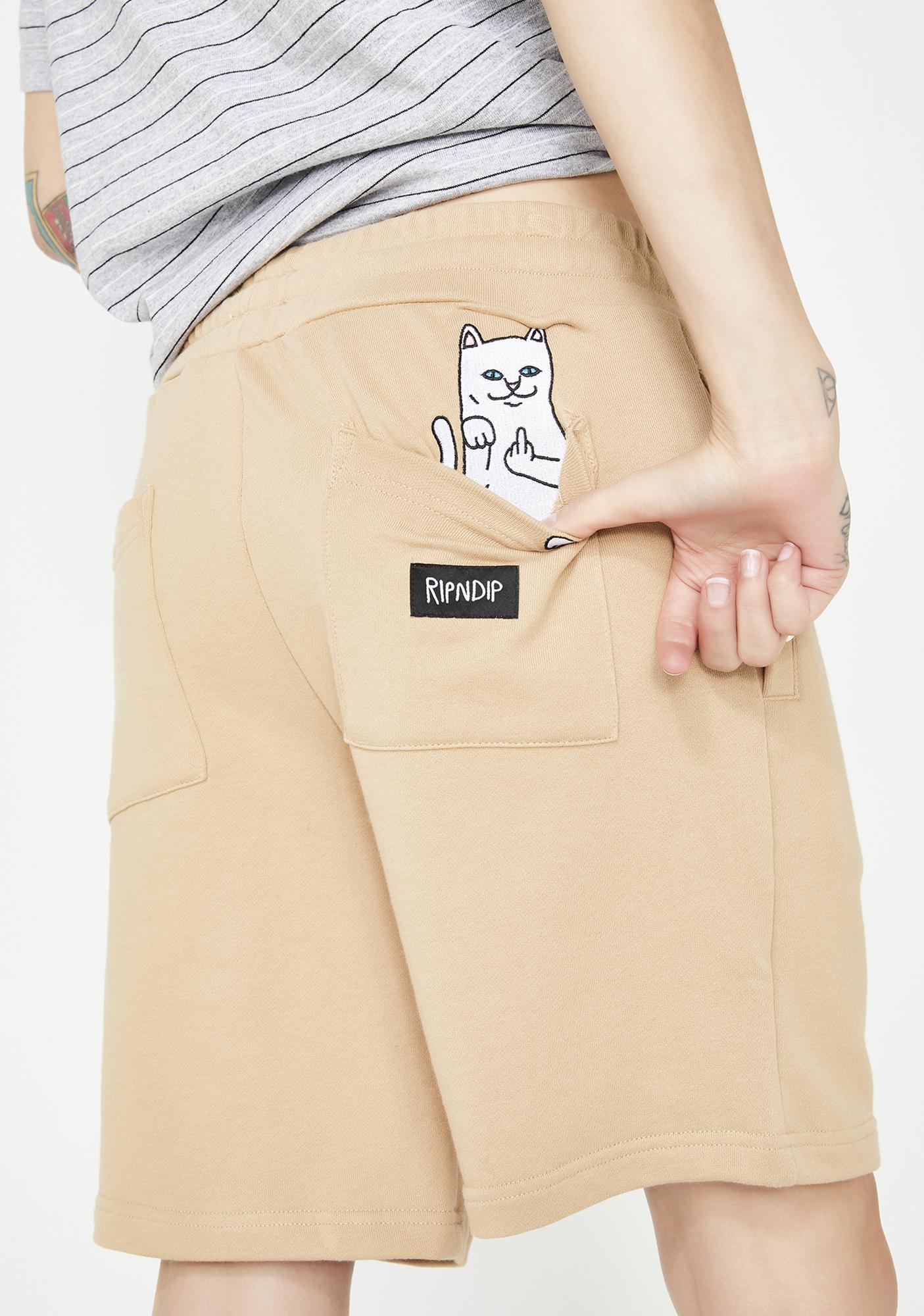 RIPNDIP Sand Peeking Nerm Sweat Shorts