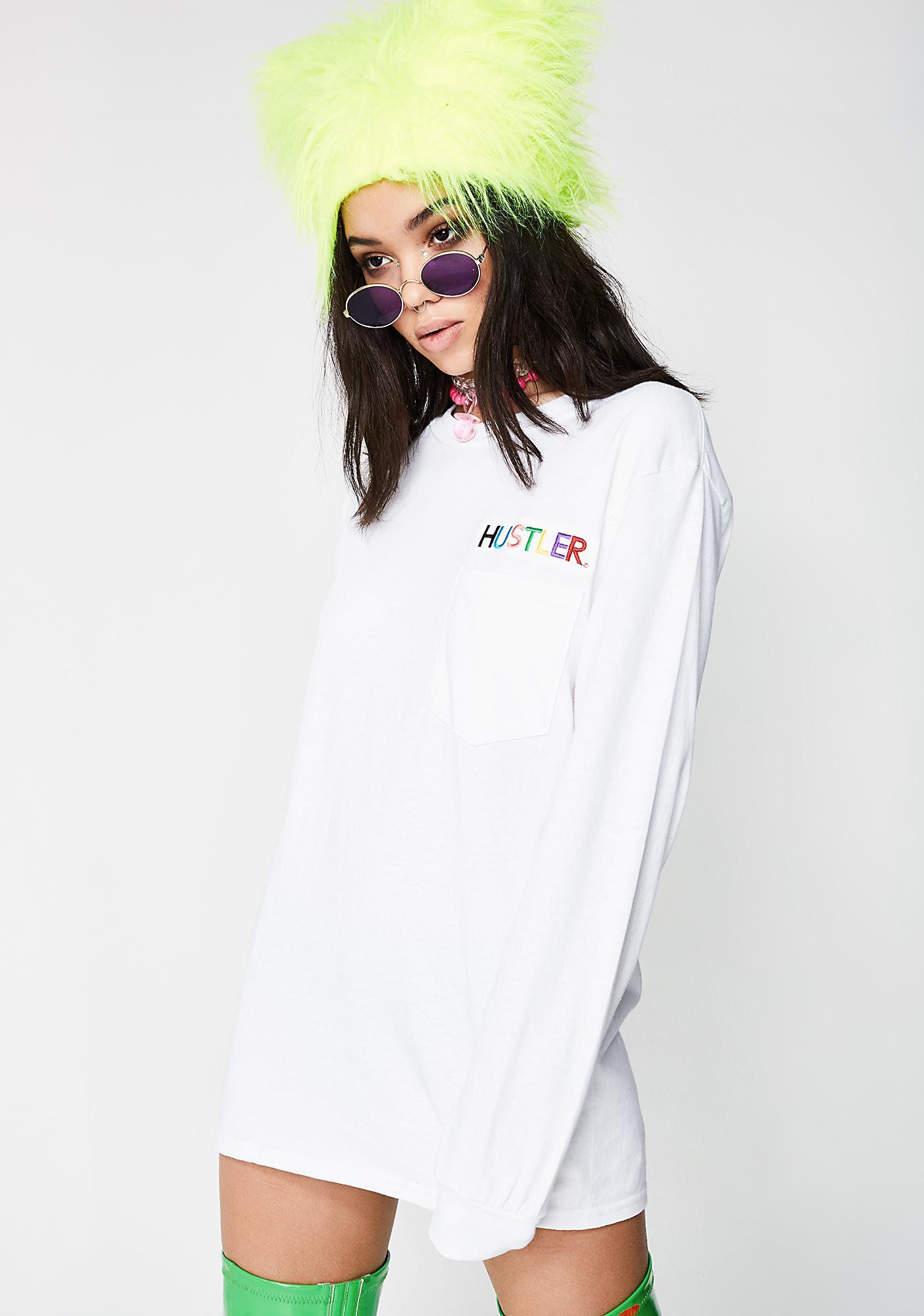 40s & Shorties x Hustler Embroidered Pocket Long Sleeve