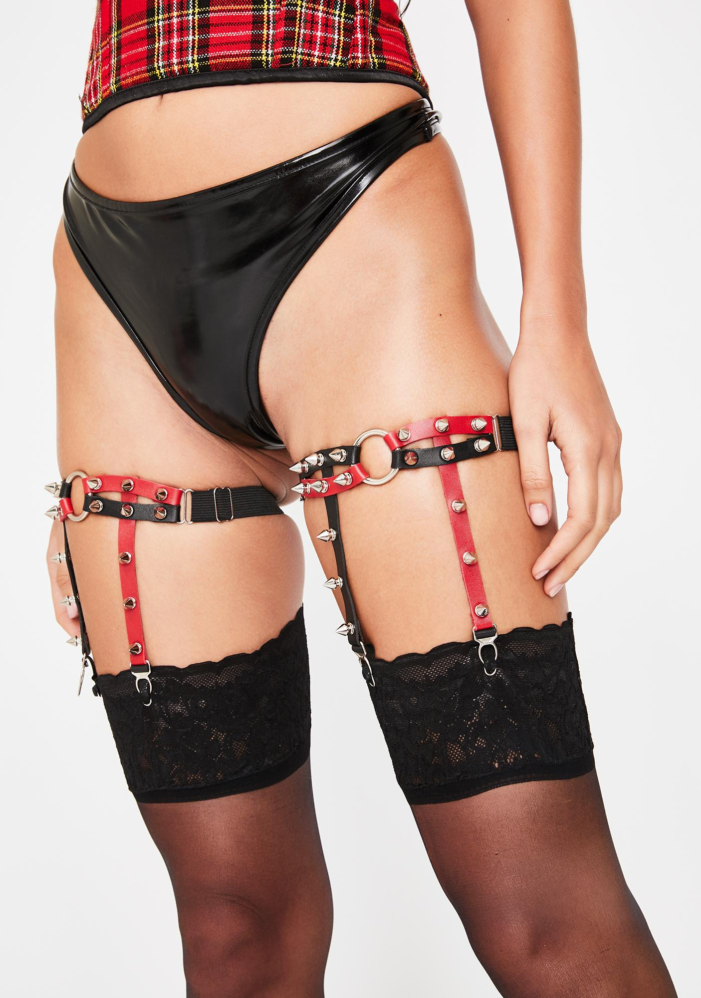 Harsh Intentions Garter Set