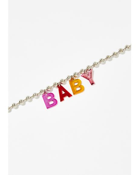Be My Baby Ball Chain Choker