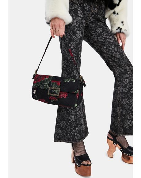 Jacquard Baguette Bag