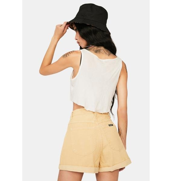 Rollas Sand Cord Dusters High Waist Shorts