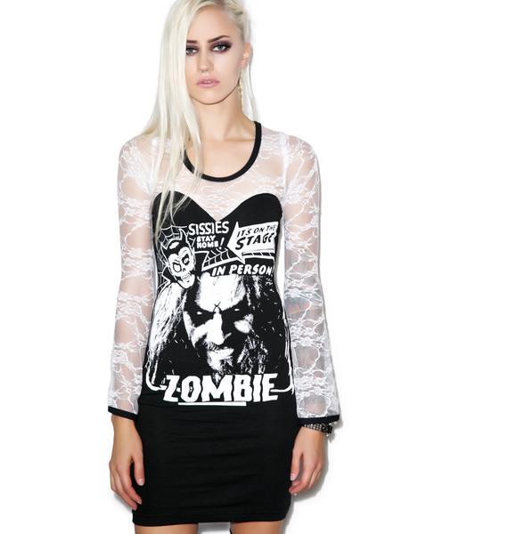 Vera's Eyecandy Zombie Head Lace Dress