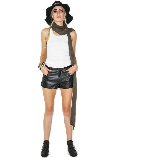Lip Service Spike Me Leather Hot Shorts