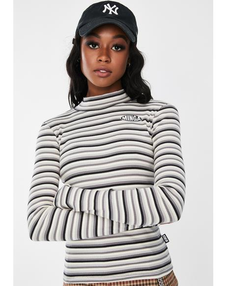 Electra Striped Ribbed Top