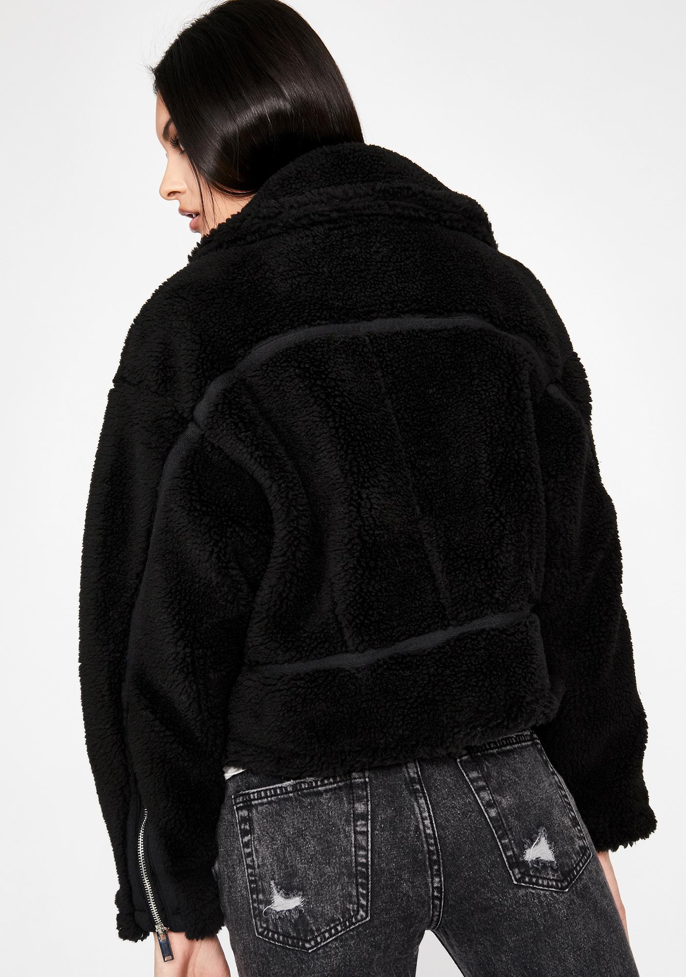 Grim Got Me Good Sherpa Jacket