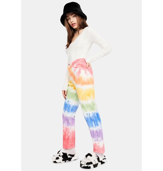dELiA*s by Dolls Kill Jolly Happy Soul Tie Dye Jeans