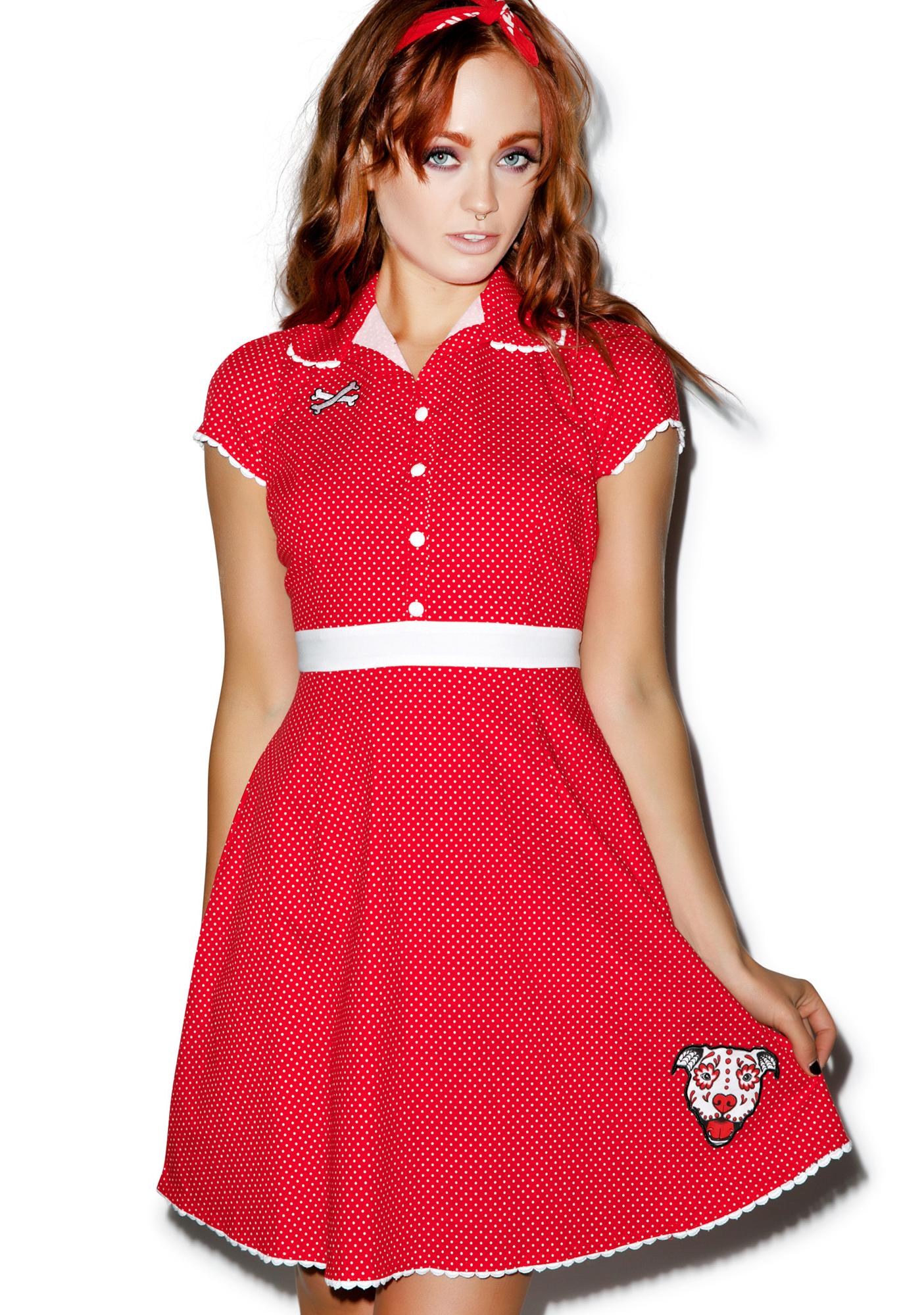 Sourpuss Clothing Puppy Love Rizzo Dress