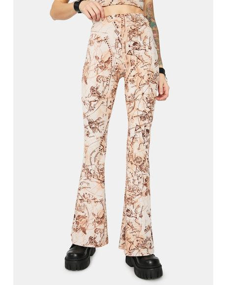 Story Of The Stars Flare Pants
