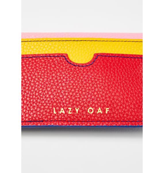 Lazy Oaf Color Block Cash Purse