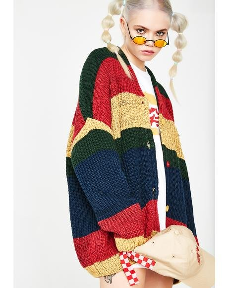 Burger Stripe Cardigan