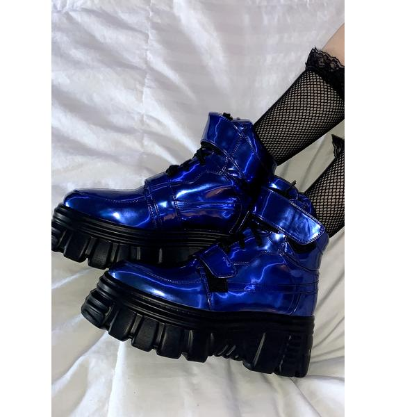 Current Mood Gravity Trip Metallic Sneakers