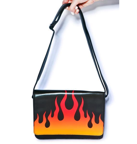 Iron Fist Fire Sign Messenger Bag