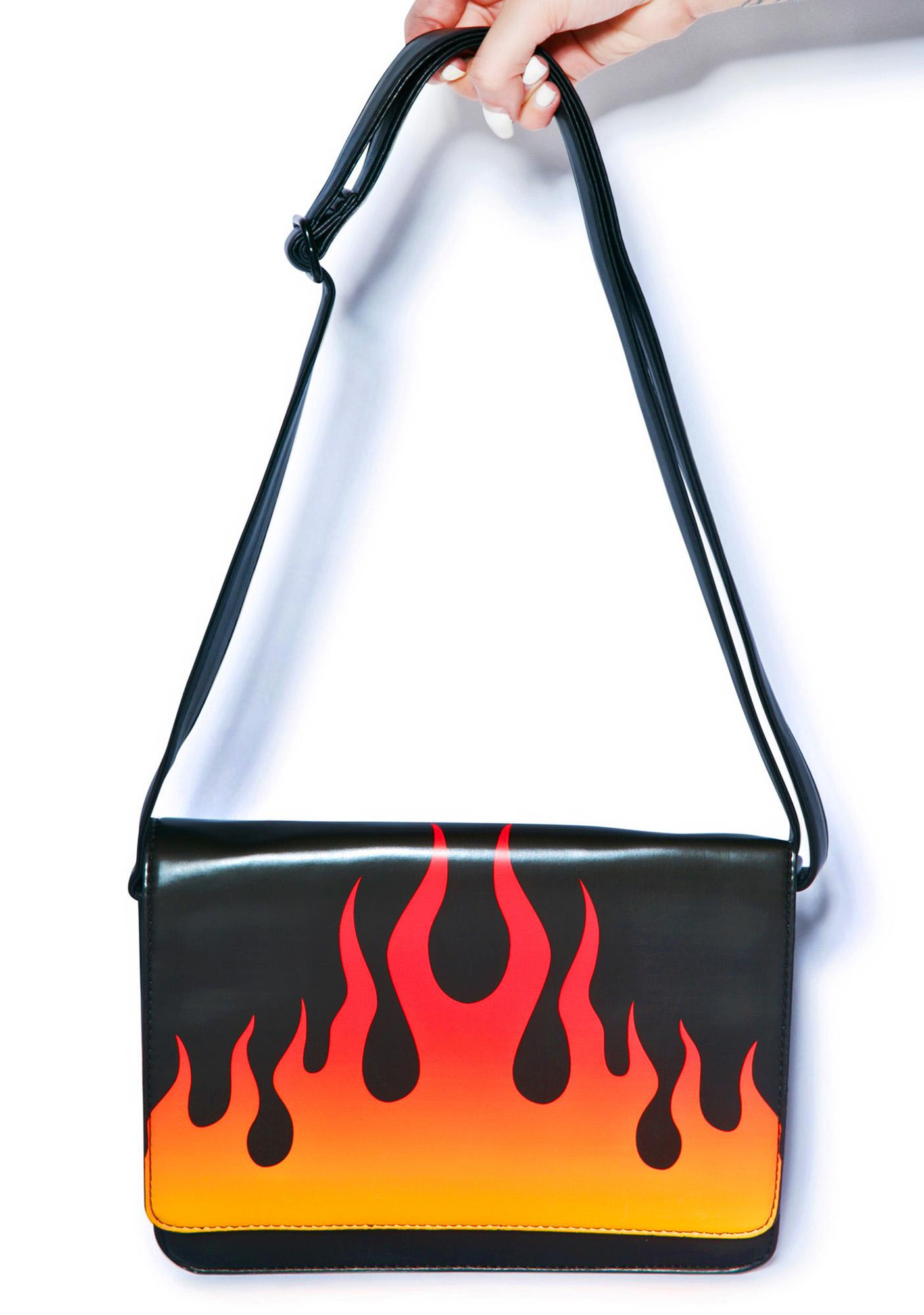 Iron Fist Fire Sign Messenger Bag