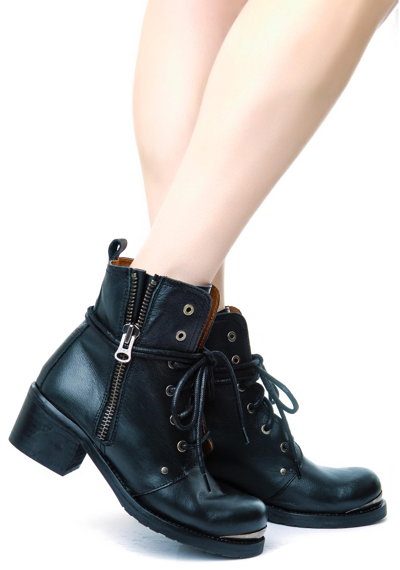SixtySeven/MTNG Dani Floater Lace Up Boots